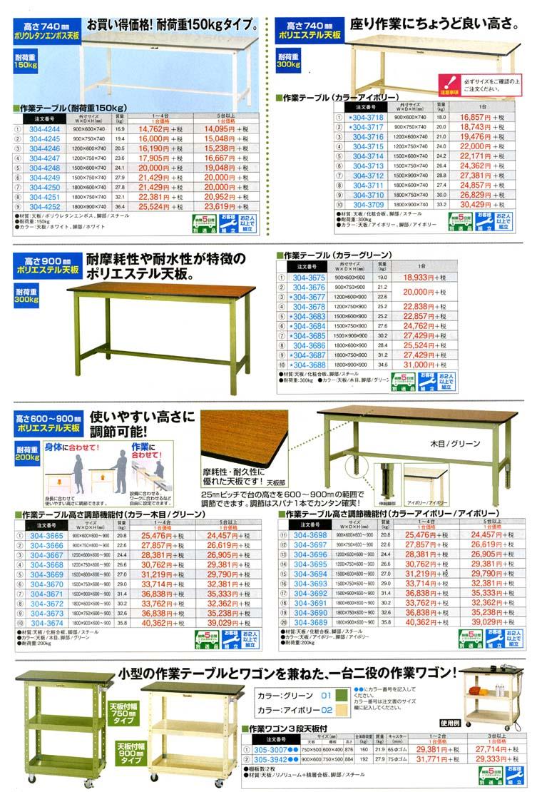 作業テーブル 座り作業にちょうど良い高さの作業テーブル 耐荷重に合わせてお選びください 耐荷重,棚
